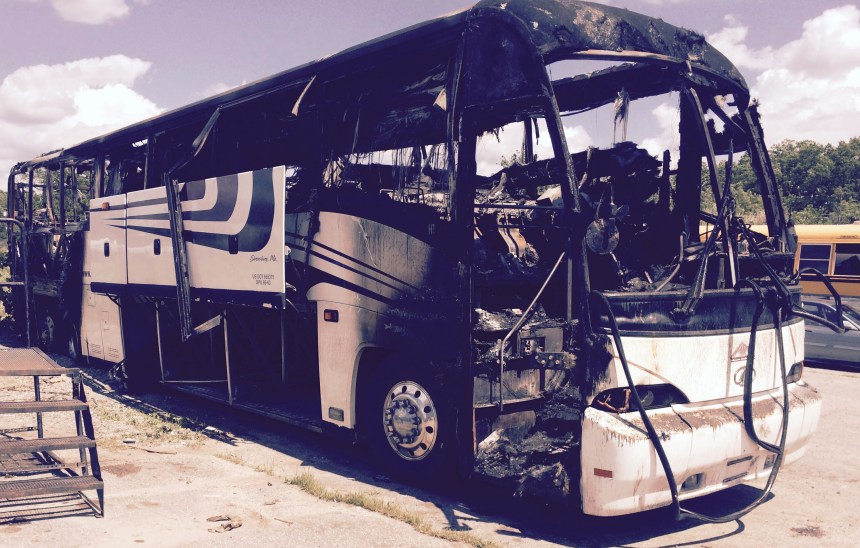 Bus fire Hopkinton-1, 6-22-15