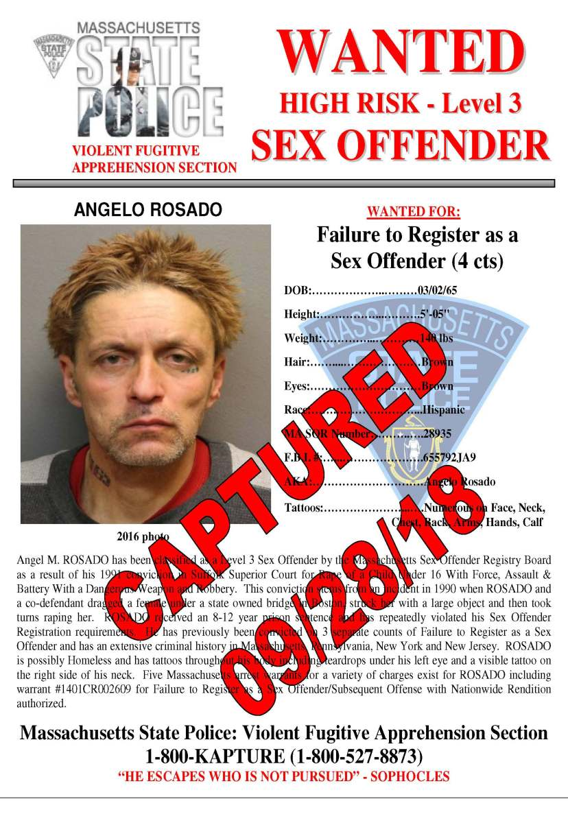 Msp Most Wanted Sex Offender Captured In Nyc