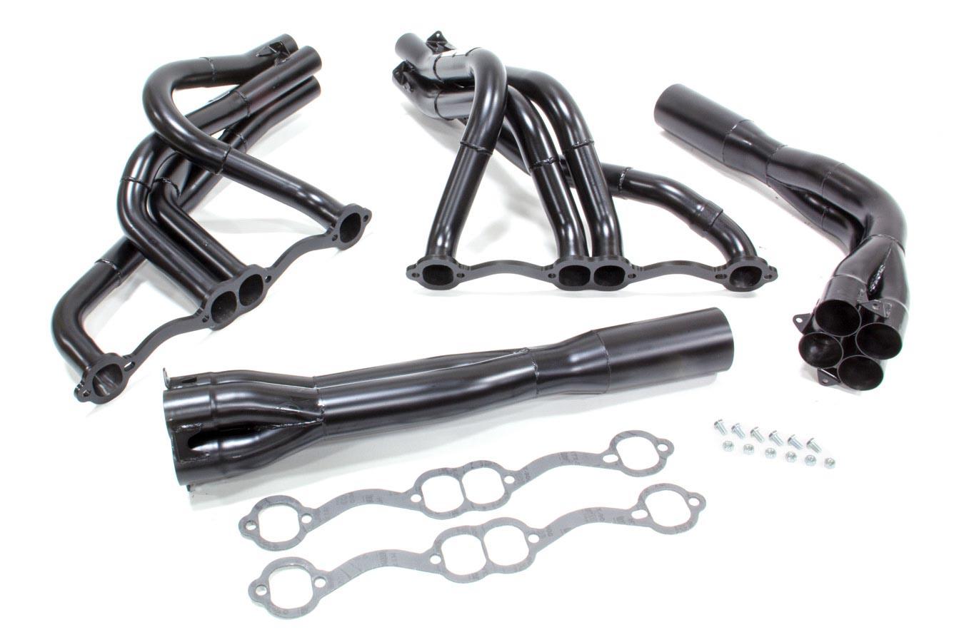 Beyea Custom Headers Sbc Black Dirt Late Model Headers P N