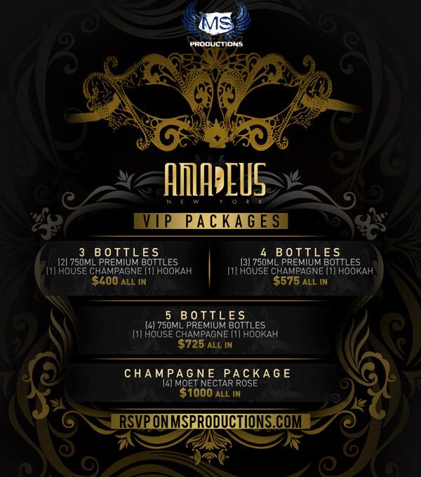 Club Amadeus Bottle Service