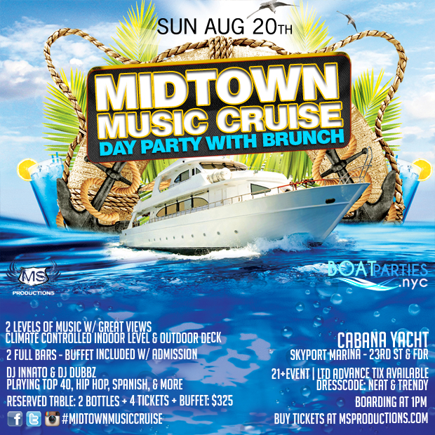 Midtown Music Cruise, boat brunch