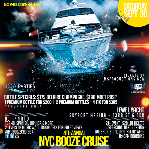 4th Annual Booze Cruise, midnight boat party