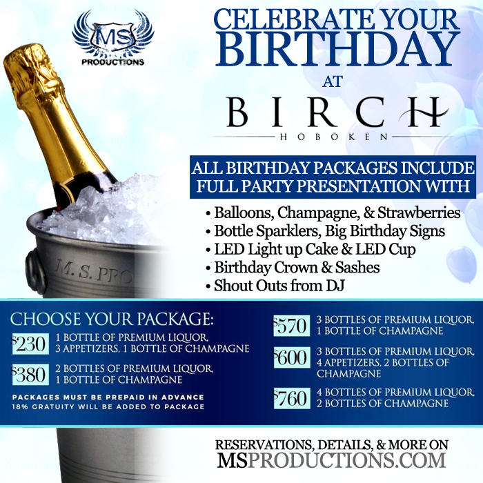 Birthday packages at Birch Hoboken