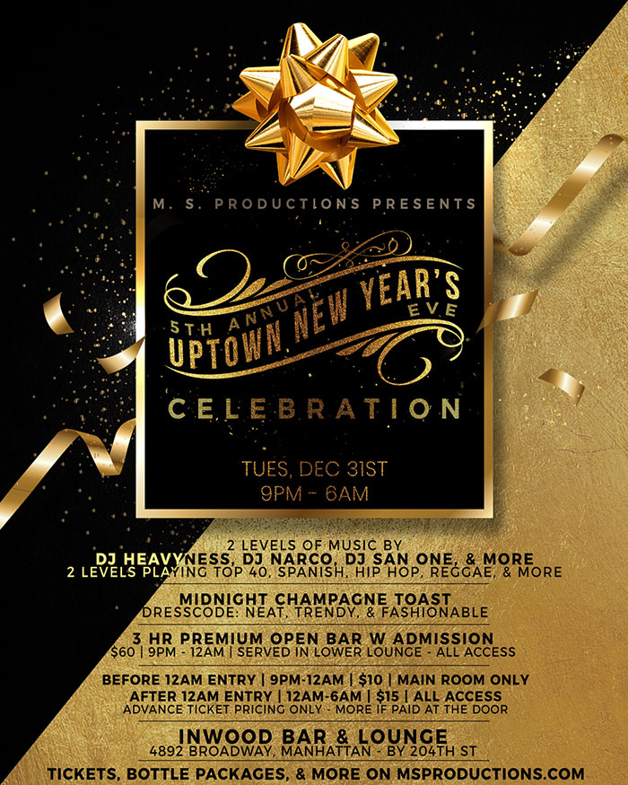 5th Annual Uptown New Year's Eve Party