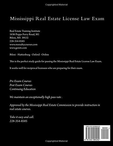 mississippi real estate license exam
