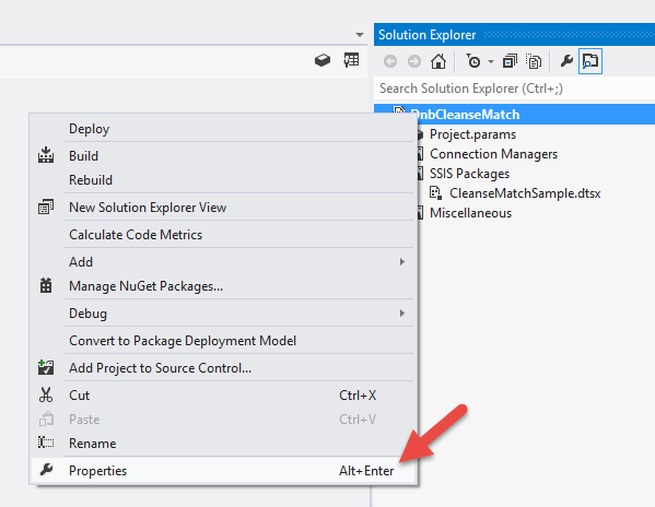 Access Properties By Right Clicking On The Project Node