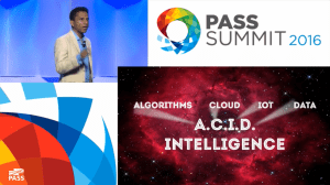 PASS Summit Keynote Day 1