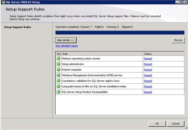SQL Server 2008 R2 Setup Support Rules