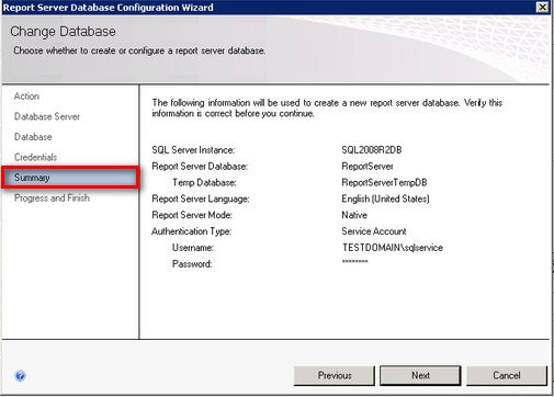 SQL Server 2008 R2 Reporting Services Configuration Summary