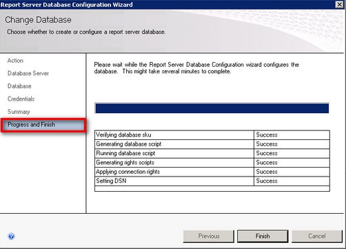 SQL Server 2008 R2 Reporting Services Installation Progress