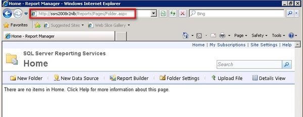 Access Reporting Services using the virtual server name