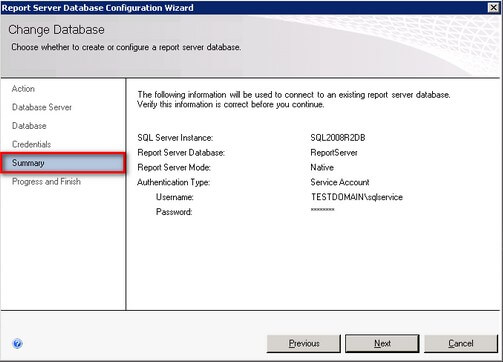 sql reporting config wizard