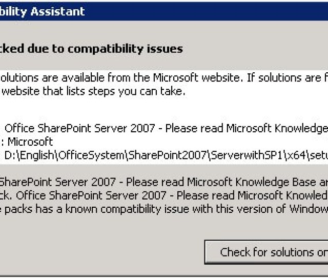 Microsoft Kb Article 962935 States That Service Pack 2 For Moss 2007 Is Required For The Installation There Are Two Ways To Accomplish This Task