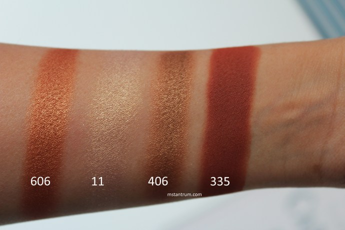 Inglot Freedom System eyeshadow swatches WITHOUT FLASH