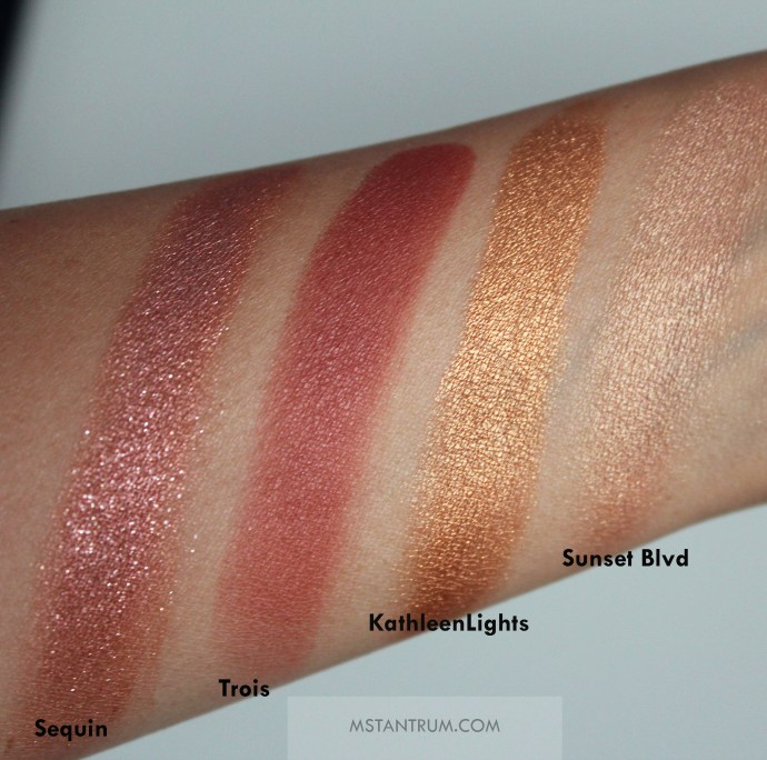 Colourpop eyeshadows , blushes, highlighters and bronzers