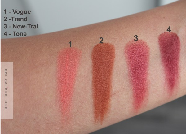 Makeup Revolution New-trals vs Neutrals swatches