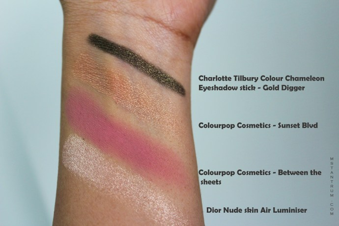 swatches from October Obsessions