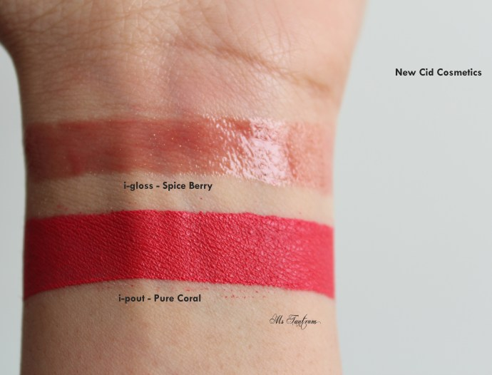 New Cid Cosmetics lip swatches