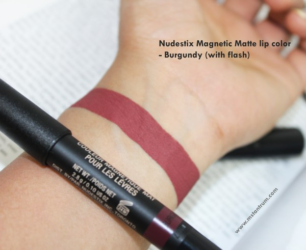 nudestix burgundy swatch