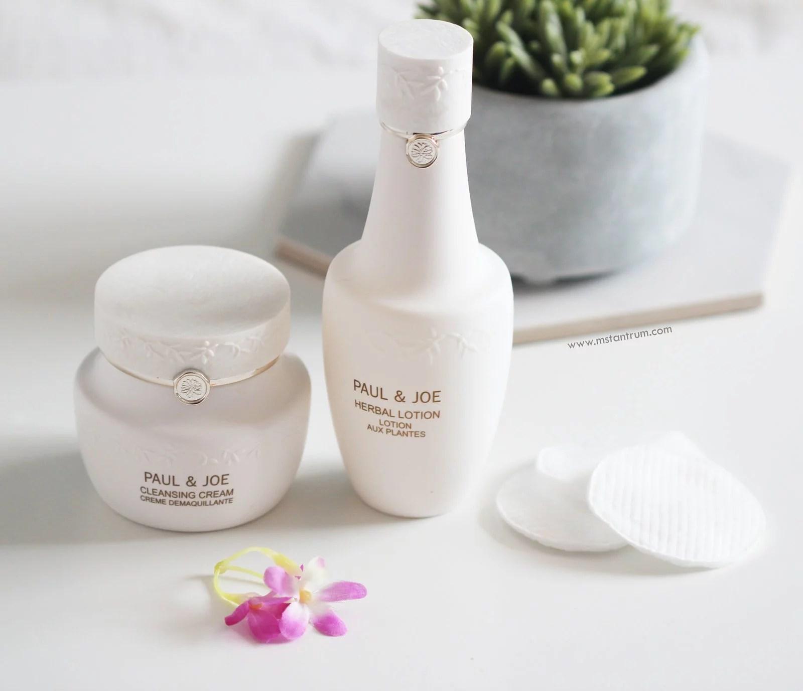 Paul & Joe Baeute cream cleanser & Herbal Lotion