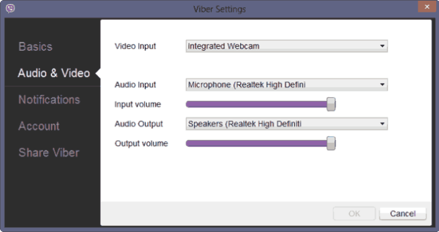 Viber-For-PC-Audio-And-Video-Settings