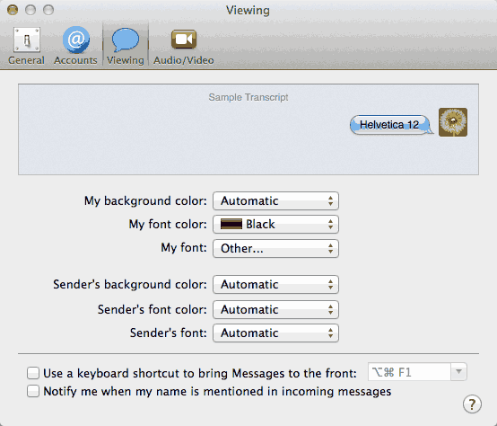 how to change text size on a mac