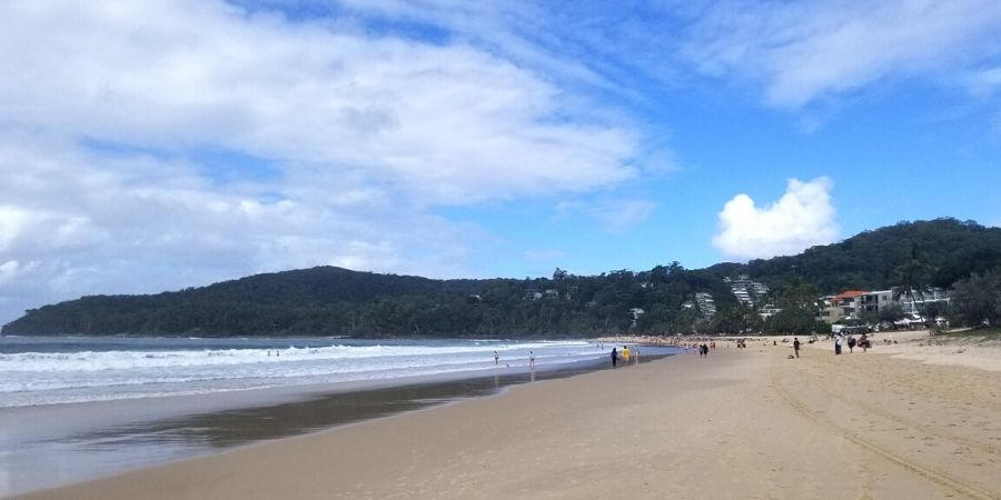 Noosa Heads Main Beach is one of the most popular spots and especially busy during weekends and holiday