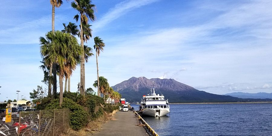 Kagoshima port services many ferries for various destinations including Okinawa