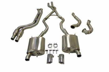 e90 e91 e92 e93 335i mstyle performance complete exhaust system incuding rear section downpipes and sports cats