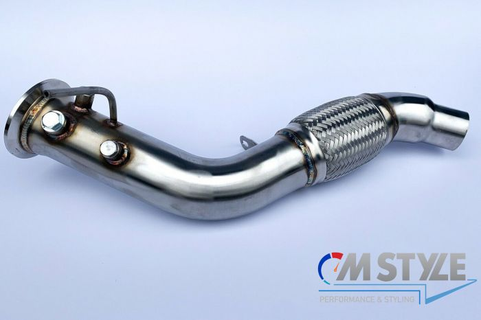 mtc motorsport bmw e60 e61 535d e71 35d e90 e91 e92 e93 335d m57n2 286bhp stainless steel dpf delete exhaust pipe