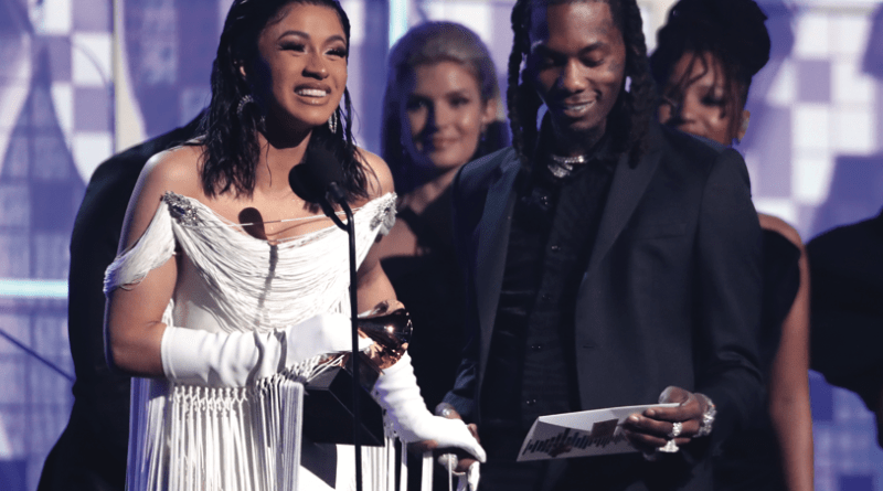 Cardi B takes home Rap Album of the Year at the 61st Grammy Awards
