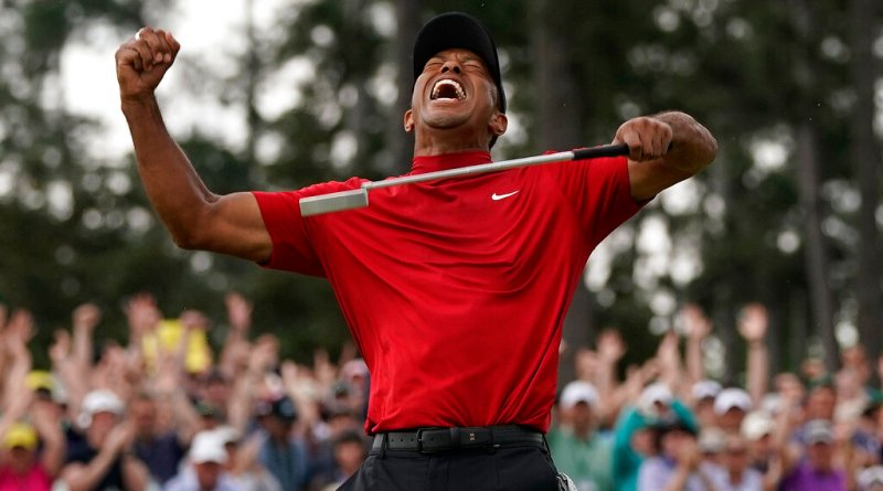 Tiger Woods wins his fifth Masters after 14 years