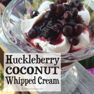 Huckleberry Coconut Whipped Cream