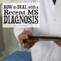 How to Deal with a Recent MS Diagnosis