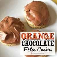 Orange Chocolate Paleo Cookies