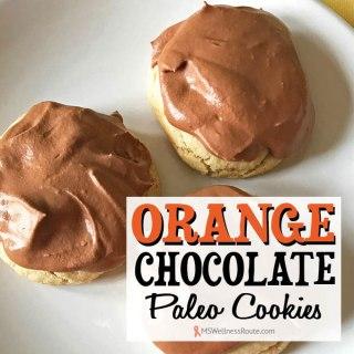 Orange Chocolate Paleo Cookies