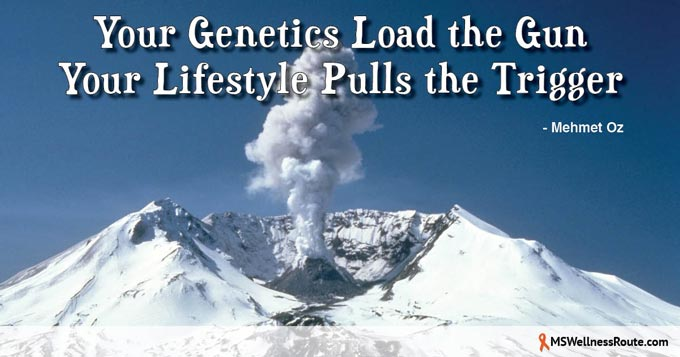 Your genetics load the gun. Your lifestyle pulls the trigger.