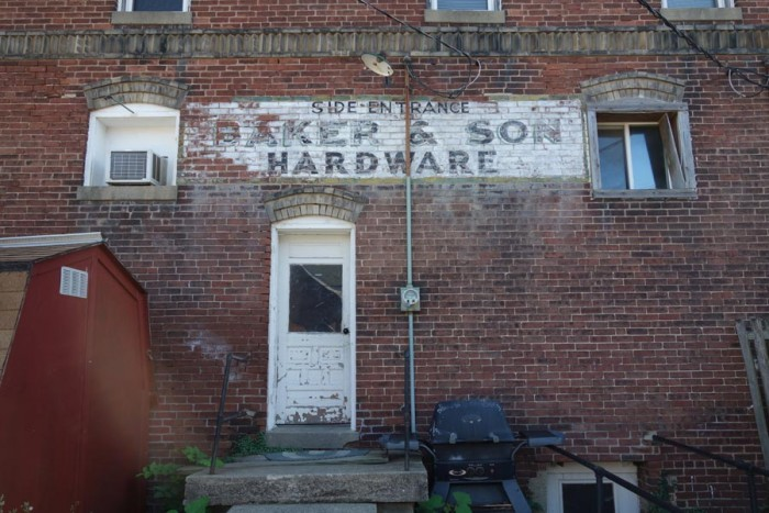 baker-and-son-historic-sign-on-brick-building-downtown-danville-indiana