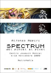 Cartel de la exposición Spectrum: del pincel al píxel