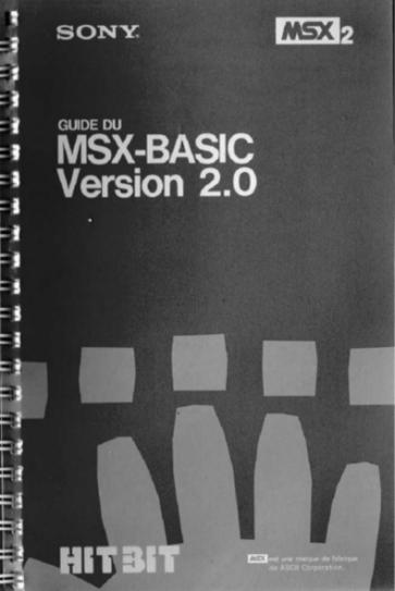 Guide du BASIC-MSX Version 2.0