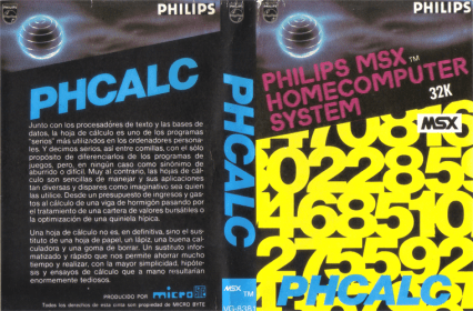 PHCalc (Philips, 1985) (Cover complete)