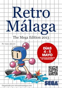 Cartel Retro Málaga 2013