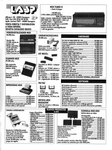 Catálogo LASP (MSX-Club 80)
