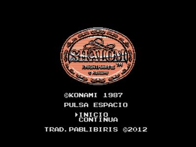 Shalom (Konami, 1987) (MSX2 version by Ramones) (1)