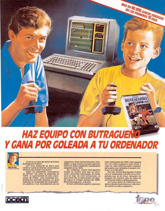 Publicidad del juego Emilio Butragueño ¡Fútbol!