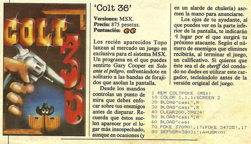 Tebeo Informático - Colt 36