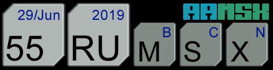 Logotipo de la 55ª RU MSX de Barcelona