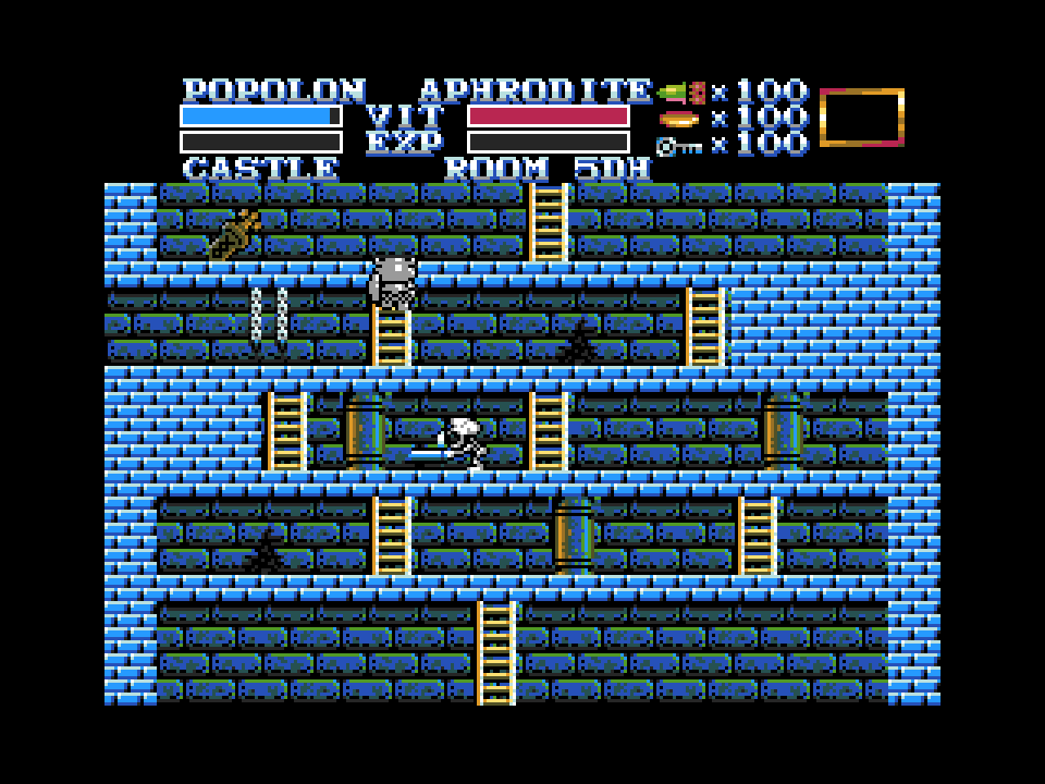 le jeu le plus populaire du msx 1  du msx bientot sur msx2 en version enhanced  The-Maze-of-Galious-MSX2-002