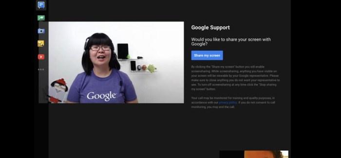Google Görüntülü Destek Vermeye Hazırlanıyor