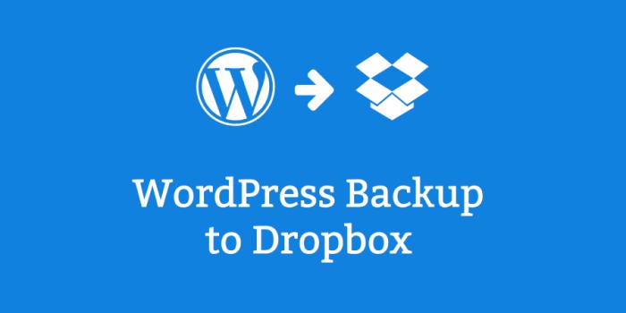 Dropbox'a WordPress Yedek Nasıl Alınır?